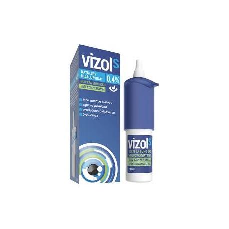 Vizol S szemcsepp 0,4% nátrium hialuronát 10ml